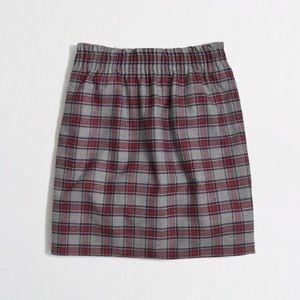 J. Crew City Mini Skirt in Gray Tartan